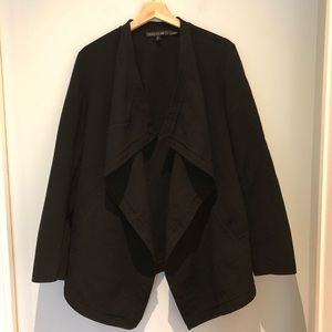 Lafayette 148 Virgin Wool Waterfall Blazer